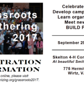 Grassroots Gathering Registration Open!