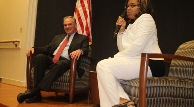 Fredericksburg Leaders Question Senator Tim Kaine at Library Community Conversation